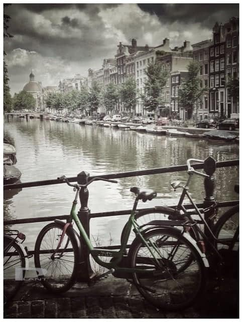 Bike-on-bridge-amsterdam