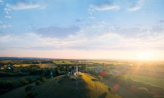 Aerial-landscape-burrow-mum-somerset