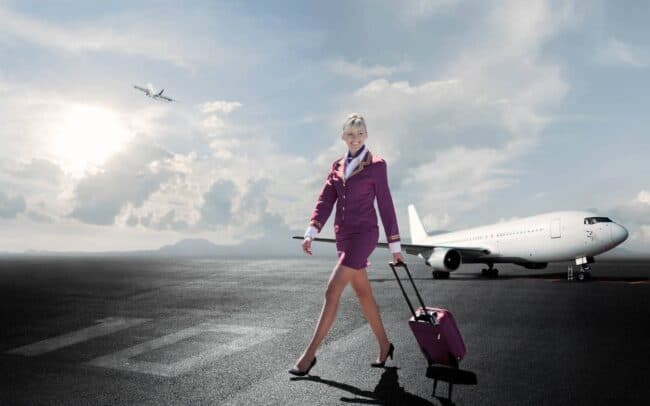 Lifestyle-photo-airplane-female-cabin-crew