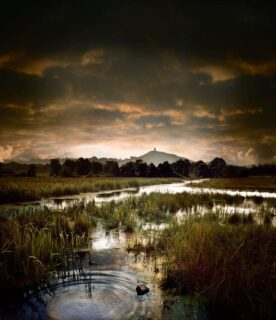 Glastonbury-tor-and-water-creative-travel-photography