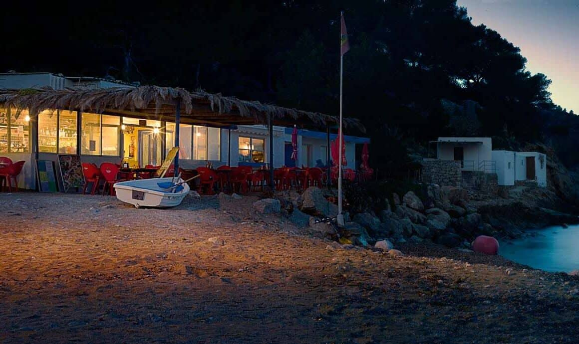 Ibiza-beach-cafe-at-dusk