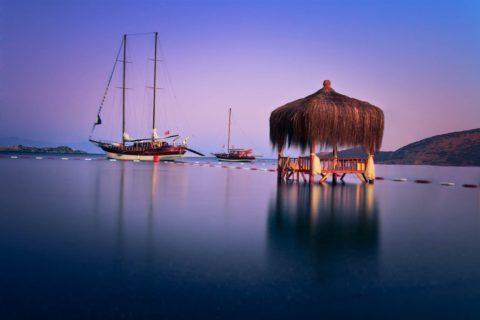 Gulet-boat-moored-gumbet-turkey