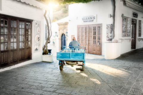 Rhodes-lyndos-village-3-wheeler-delivery-travel-photography-portfolio