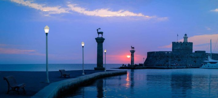 Location-in-photography-dawn-mandraki-harbour-rhodes