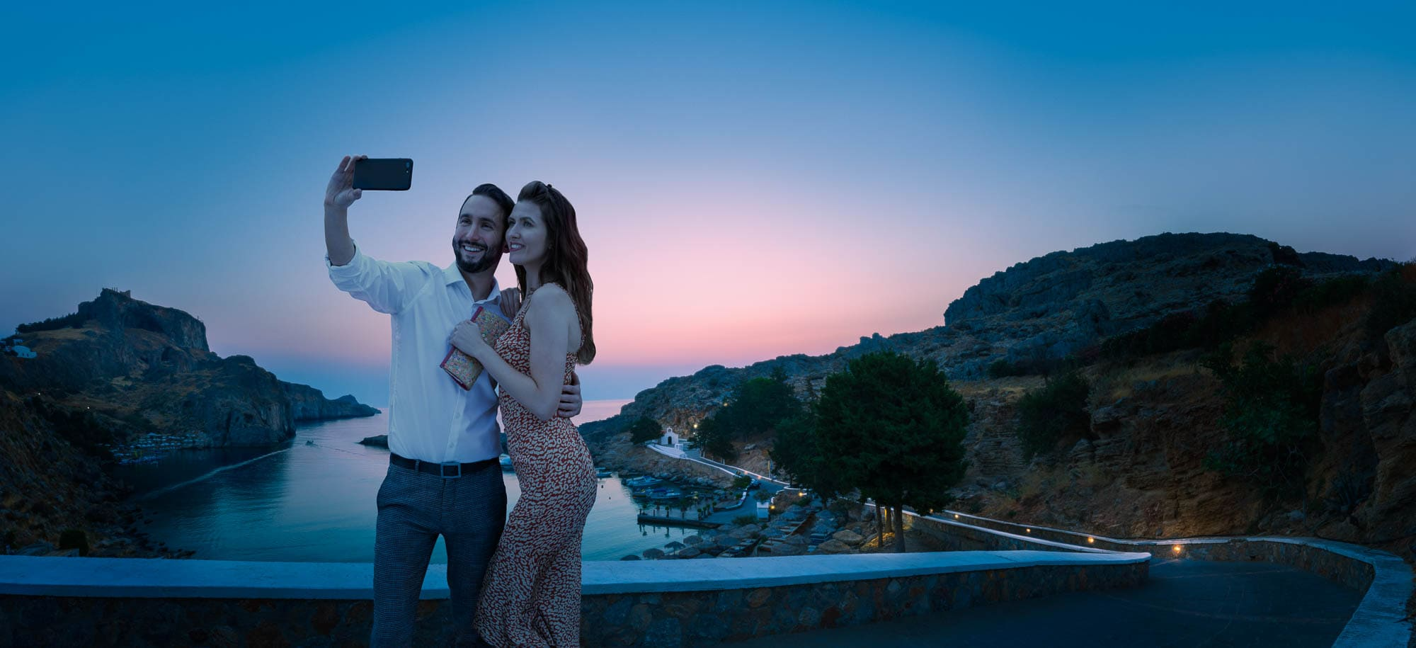 Lifestyle-advertising-photography-a-walk-before-dinner-rhodes-greece