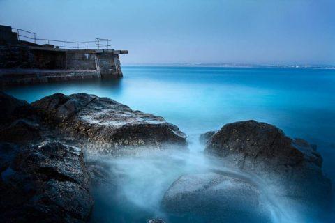 St-ives-harbour-and-rocks-at-dusk